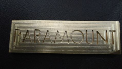Picture of Job Using CNC Engraving