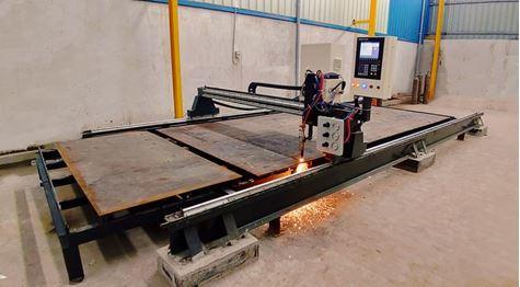 Picture of CNC Oxy fuel / Plasma Machine.